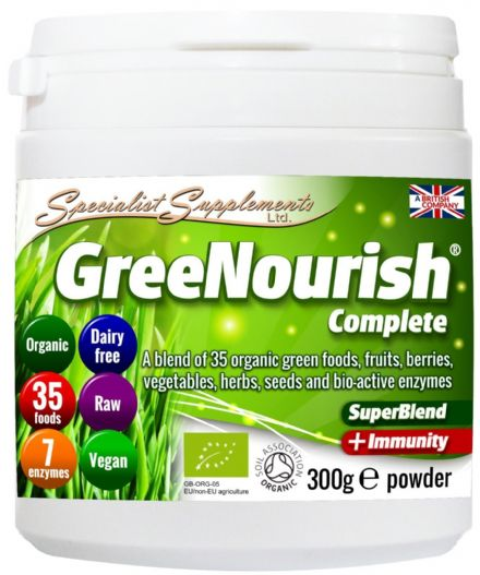 GreeNourish Complete v2; Organic Superfoods Combo 300g; Specialist Supplements